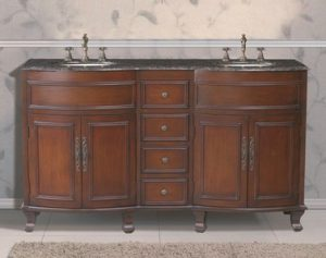 Winslow Double Sink Vanity With Baltic Brown Granite Top