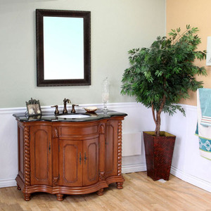 Light Walnut Wood Finish Bathroom Vanity From Bellaterra Home