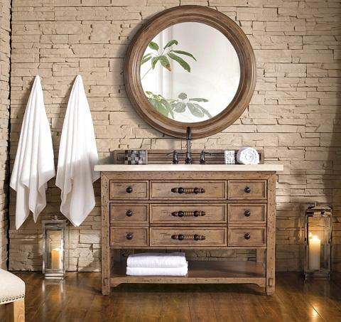 "Malibu 48"" Single Bathroom Vanity in Honey Alder 500-V48-HON by James Martin Furniture"