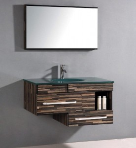 Modern Wood Patterned Vanity From Legion Furniture