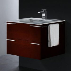 Read Oak Single Wall Mounted Bathroom Vanity From Vigo Industries