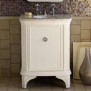 Superb Savina 27 Inch White Bathroom Vanity From Porcher