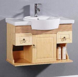 Spa Style Bamboo Wall Mounted Vanity From Legion Furniture