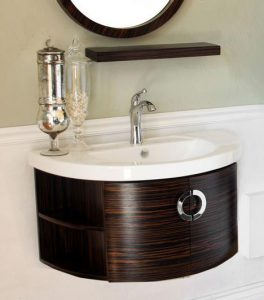Wall Mounted Modern Bathroom Vanity With Ebony Zebra Accent From Bellaterra HOme