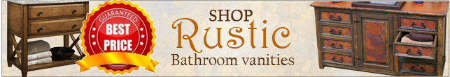 Buy Rustic Bathroom Vanities