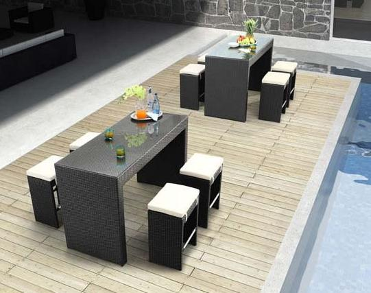 Agadir Table And Chair Set From Zuo