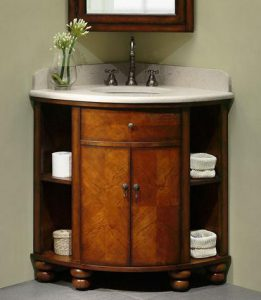 Carlton Corner Vanity With Cherry Veneers From Xylem
