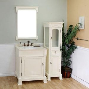 Cream White Transitional Bathroom Vanity And Storage Cabinet From BellaTerra Home