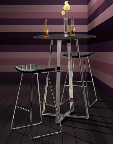 Crescent Bar Stool And Lemon Drop Table From Zuo