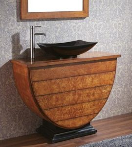 Legacy Vanity With Maple Burl Veneer From Avanity