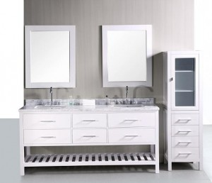 London 65 Inch Bathroom Vanity And Matching Storage Cabinet From Design Element