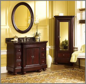 Mount Vernon 48 Inch Bathroom Vanity And Mirrored Storage Cabinet From Kaco