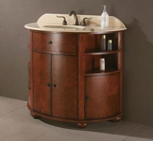 Oxford Vanity With Cherry Wood Veneer From Avanity
