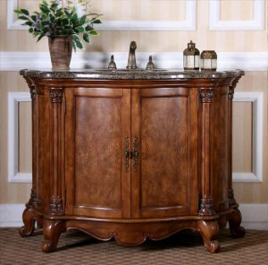 Walnut Vanity With Burled Walnut Veneers From Legion Furniture