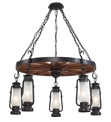 Chapman 5 Light Chandelier In Matte Black