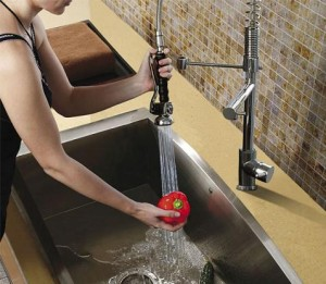 Double Faucet With Pull Down Spray From Vigo Industries