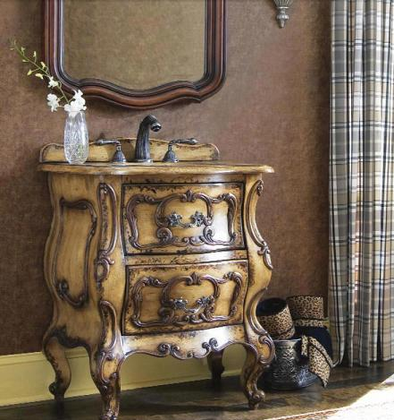 Gatsby Antique Bathroom Vanity From Cole and Co - Ornate Antique Bathroom Vanities For Even The Smallest Bathroom
