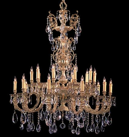 Large crystal chandeliers for big luxurious spaces kensington ornate cast brass chandelier with swarovski spectra crystal aloadofball Gallery