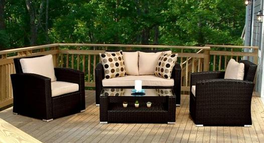 Key West Synthetic Wicker Seating Set From Caluco