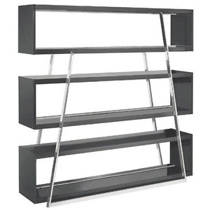 Kira Black Shelving Unit From Nuevo