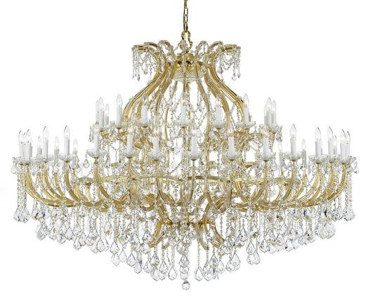 Large Crystal Chandeliers For Big Luxurious Spaces