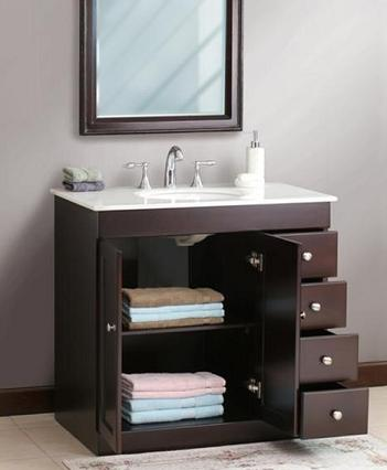 Small bathroom solutions storage smart bathroom vanities for Small bathroom vanity with storage