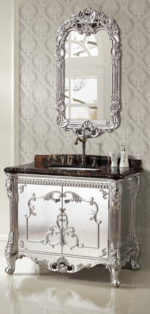 Beau Silver Foil Designer Bathroom Vanity From Legion Furniture