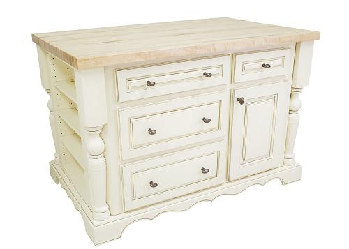 Antique White Traditional Kitchen Island From Hardware Resources