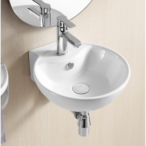 Wall mounted bathroom sinks for your half bath or water closet for Very small sinks for small bathroom