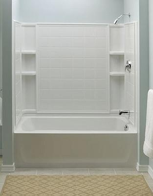 Ensemble Tiled Shower Tub Combo From Sterling