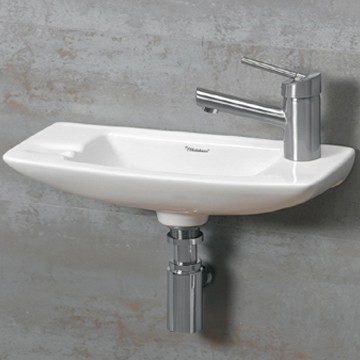 Wall mounted bathroom sinks for your half bath or water closet for Tiny bathroom sink