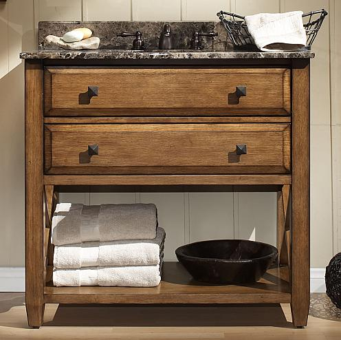buy weathered wood bathroom vanities for a cottage style