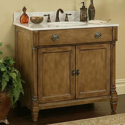 Buy weathered wood bathroom vanities for a cottage style bathroom - Small cottage style bathroom vanity design ...