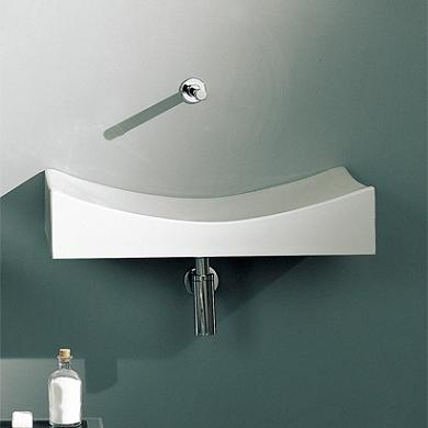 Sink In Wall : Ceramic Wall Mounted Sinks - A Great Alternative For A Modern Bathroom