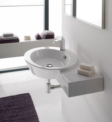 ceramic wall mounted sinks a great alternative for a modern bathroom. Black Bedroom Furniture Sets. Home Design Ideas