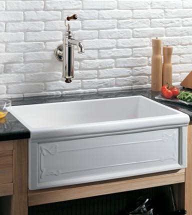 Farmhouse Fireclay Sink : Fireclay Sinks - Trendy Traditional Styles For An Eco-Friendly Kitchen
