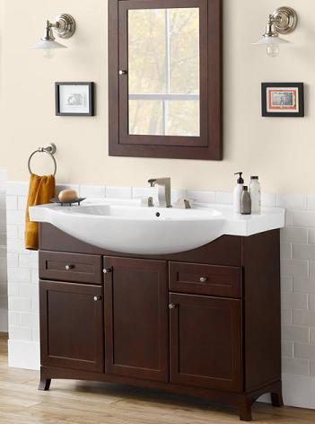 Ceramic vanity tops a stylish option for your bathroom - Space saving bathroom vanity ...