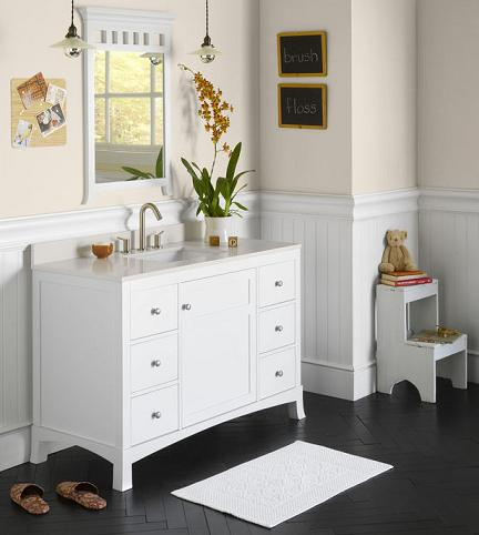 contemporary cottage style bathroom vanities from ronbow. Black Bedroom Furniture Sets. Home Design Ideas