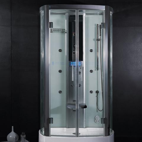 building a luxury shower in a small bathroom and on a