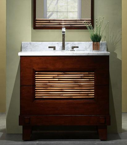 asian inspired bathroom vanities for a zen like modern bathroom