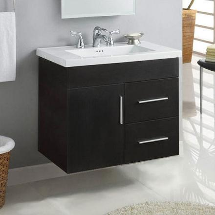 springfield wall mounted bathroom vanity from design element