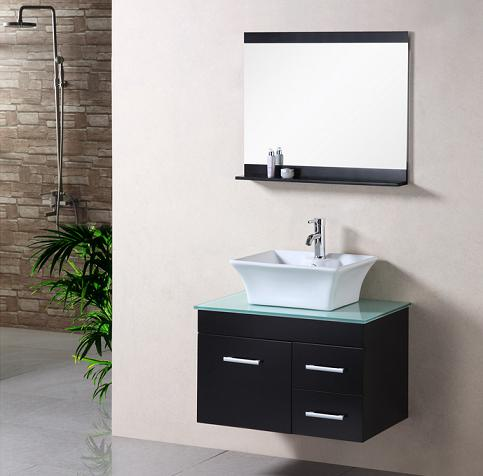 madrid wall mounted bathroom vanity with vessel sink from design