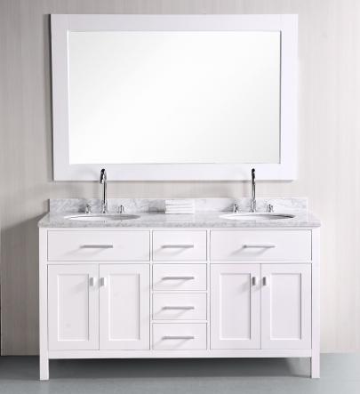 Comcarrera Marble Bathroom Vanity : London Double Bathroom Vanity With Carrara Marble Vanity Top And ...