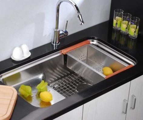 Stainless Steel Sink Colander : Stainless Steel In Sink Colander From Dawn