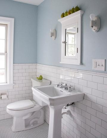 Six ways to spruce up a small bathroom easy remodels you 39 ll love - How to clean bathroom wall tiles easily ...