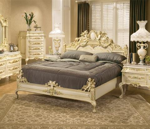 ornate antique beds and bedroom sets for an opulent old