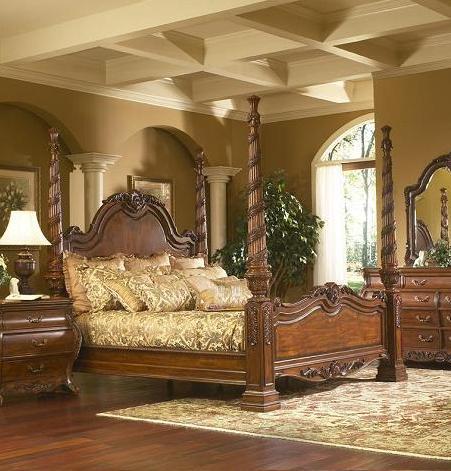 Ornate antique beds and bedroom sets for an opulent old - Ornate bedroom furniture ...