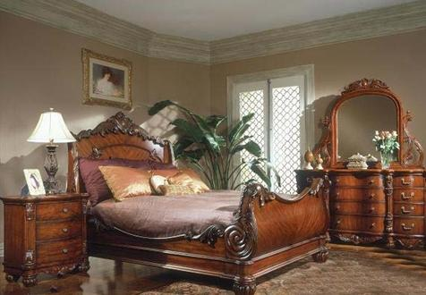 Beautiful European Paint Finishes Ornate Bedroom Set .