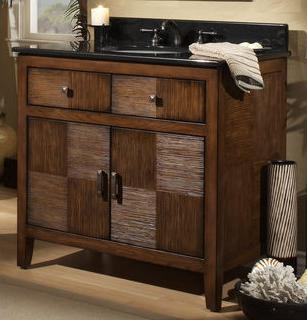 Dramatic statement bathroom vanities to dress up your for Cabana bathroom ideas