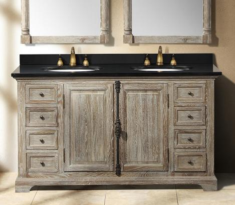 72 bathroom vanity cabinet only - Going Gray Aged Wood Bathroom Vanities For A Natural